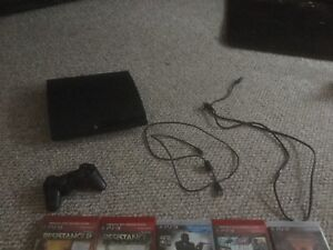 PS 3 with 14 games + 1 or 2 downloaded and remote