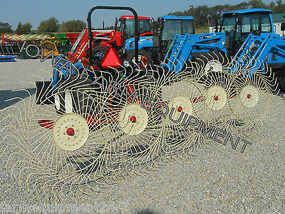 Sitrex 3-point 5 Wheel Hay Rake11-6 Working Widthfreeshippingtoselectstates