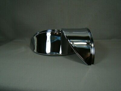 "chrome steel head light visors 7 inch visors 7"" eye lids headlight visors"