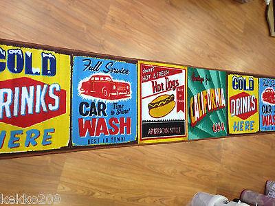 Tappeto cucina saloon  USA stati uniti vintage giallo california  pubblicità