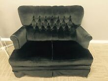 Black 2 seater lounge Kurrajong Hawkesbury Area Preview
