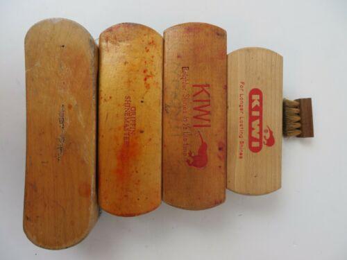 Vintage Shoe Shine Brush Lot Griffin Kiwi Lot of 5 Brushes #3400