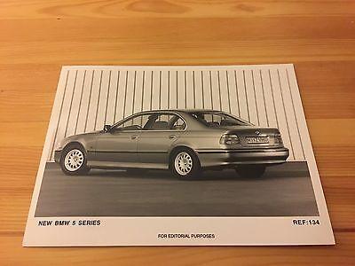 Genuine Classic Car Press Photo, BMW E39 5 Series, 540i 528i 523i 520i brochure