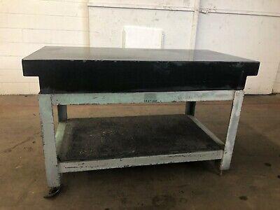 30 X 60 Microflat Black Granite Surface Plate 2-ledge Steel Stand Id I-044