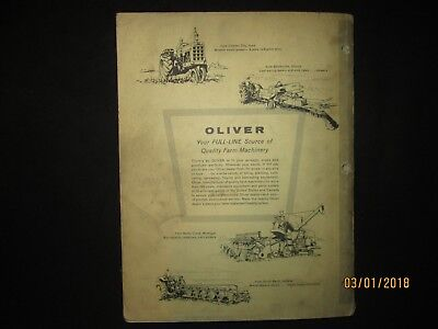 Oliver White Cockshutt 770 - 880 Tractor Parts Catalog Book Manual Original