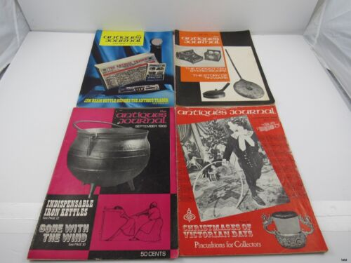 Lot of 4 Vintage THE ANTIQUES JOURNAL Magazines : 1968