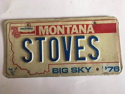 Vanity License Plate Stoves Stove Appliance Store Restaurant Decor Oven Cooking