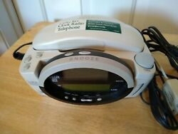 Conair Conairphone Model CID400SL Caller ID Clock Radio Corded Telephone Tested