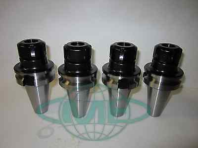 Bt40-er25 Collet Chuck W. 2.75 Gage Length---4 Chucks--new Tool Holder Set