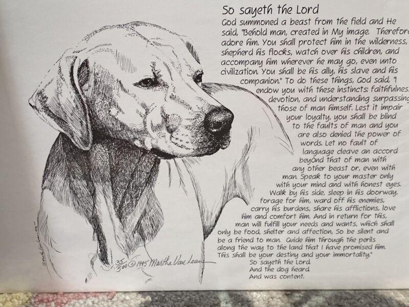 rhodesian ridgeback Poem Ltd Ed Print By Van Loan