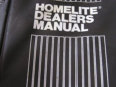 HOMELITE SHOP SERVICE MANUAL. COVERS Blower, Pumps and Generators and more