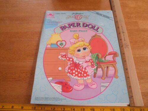 The Muppets 1991 Muppet Babies Paper Doll book baby Piggy Golden press