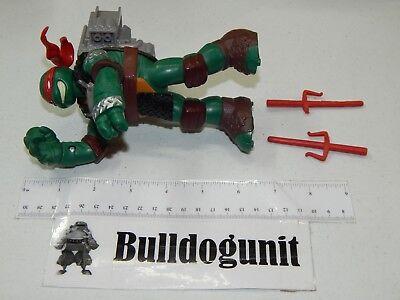 Flingers Raphael Figure w/ 2 Sai Teenage Mutant Ninja Turtles 2013 - Raphael Sais