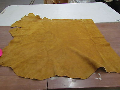"MOOSE HIDE NATIVE AMERICAN DARK COMMERCIAL TANNED HIDE SOFT 42"" BY 34"" SMALL"