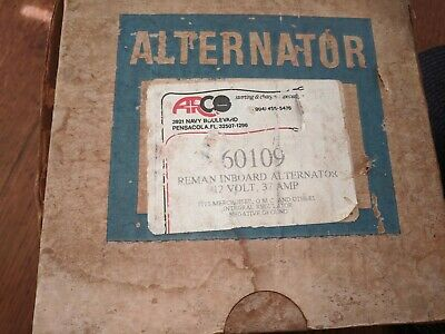 Alternator Arco 60109 Alternator 12 Volt 37 amp. mercruiser, OMC and others.