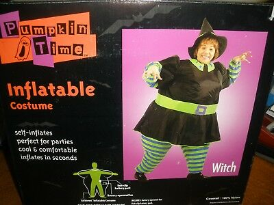 Pumpkin Time Inflatable Costume Adult WITCH - Adult Pumpkin Costume