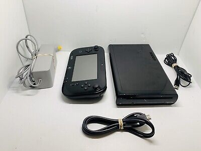 Nintendo Wii U WUP101(02) Black 32GB System Tested