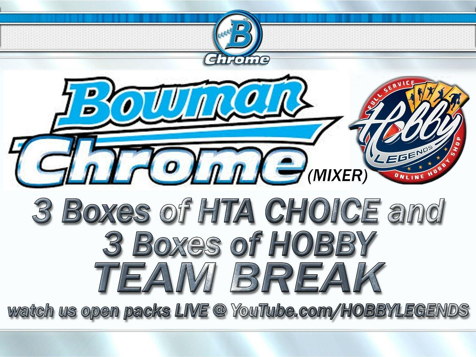 CHICAGO CUBS 2020 BOWMAN CHROME 6 BOX MIX 3 HTA 3 HOBBY TEAM BREAK 39 - $32.00