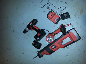 cordless 18volts sawsall and older drill  serious inquiries only