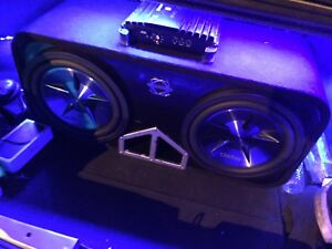 "^** CLARION 12"" SUBS IN BASSWORX BOX WITH ALPINE MRP M500!!"