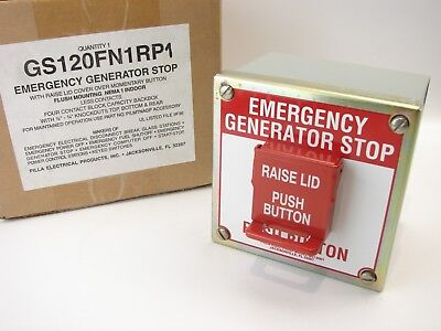 Pilla Gs120fn1rp1 Emergency Generator Stop With Lid Cover Nema-1 Momentary B503