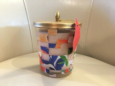 NEW Illume Luxury Scented Jar Candle Sweet Hibiscus Large 13.2 oz Tin Lid Flaw