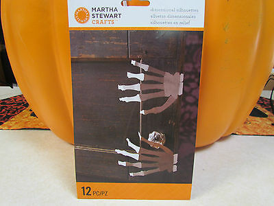 Halloween Skeleton Silhouette (Martha Stewart Halloween Skeleton Silhouette Hands~ 12 Pieces ~ Mint in)
