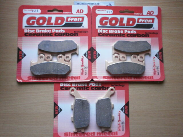HONDA CBR600-F (1993-1994) FRONT & REAR SINTERED BRAKE PADS (3x Sets) CBR600F