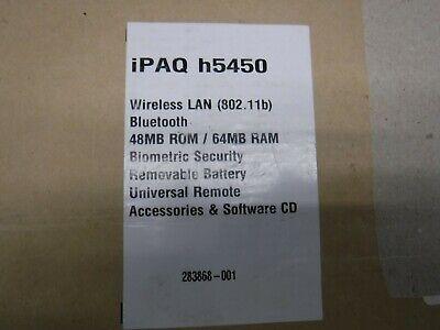 Hp Ipaq Pocket Pc H 5400 Series 264493-001