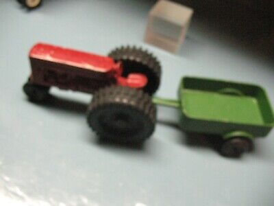 LEE TOYS VINTAGE    TRACTOR w/ WAGON CAST  ALUMINUM  for sale  Shipping to India
