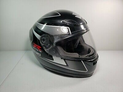 SUZUKI GSXR Full Face Motorcycle Helmet Extra Large XL SHOEI DOT Approved Black