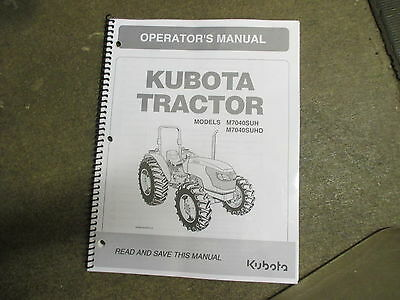 Kubota M7040 Suhd M 7040 Tractor Owners Maintenance Manual