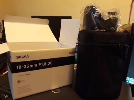 SIGMA Art 18-35mm f1.8 DC Lens for Nikon