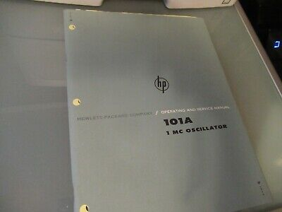 Vintage Manual Hp 101a Quartz Oscillator Frequency Standard 1962 As Pictured