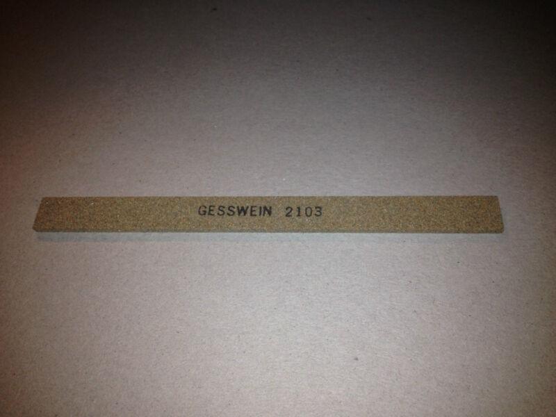 """New, Gesswein, 405-2103, Machinist Finishing Stone 1/8x1/2x6"""","""