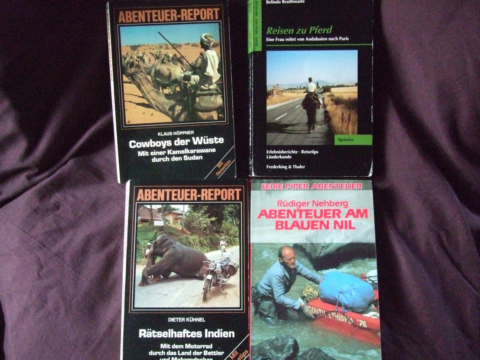 4 Bücher Reiseberichte/Reiseabenteuer div. Autoren