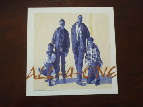 All-4-One 1994 LP Record Photo Flat 12x12 Poster