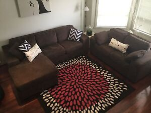 3 piece fabric chase lounge suite Coburg Moreland Area Preview