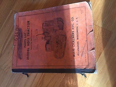 Allis- Chalmers Allis Chalmers Hd11 11 Crawler Dozer Parts Catalog List Manual