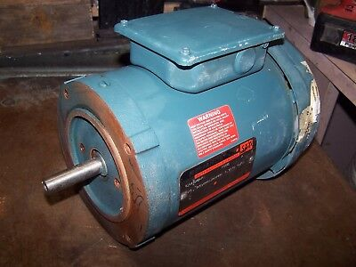 New Reliance 13 Hp Ac Electric Motor 56c Frame 240480 Vac 3450 Rpm 3 Phase