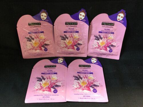 5 Pk Calming Lotus & Lavender Oil Sheet Mask Feeling Beautif