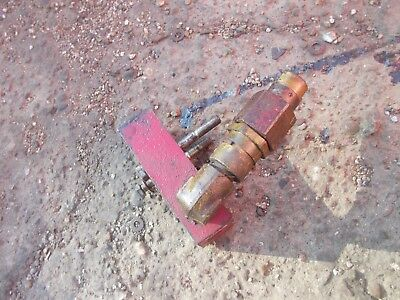 Farmall 300 350 Ih Rear Hydraulic Line Valve Flow Block For Power Steering
