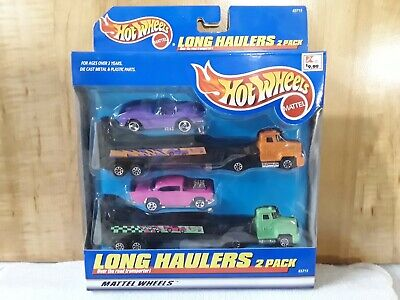 1998 Hot Wheels LONG HAULERS 2 pack CHEVY CORVETTE 57 chevy exclusive car NEW
