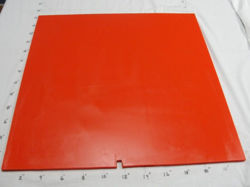 "POLYURETHANE/URETHANE SHEET  3/8"" X 24"" X 25""   50 RED #4116"