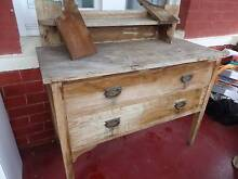 Vintage Antique Oak Dressing Table 2 Drawers Restoration Garage Cumberland Park Mitcham Area Preview