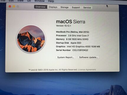 "MacBook Pro Retina 15""inch 512gb"
