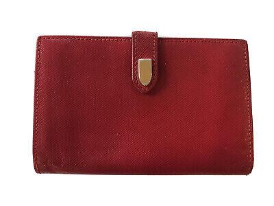 "Vtg GUCCI Red Wallet Kisslock Coin Purse 5x3.5"""