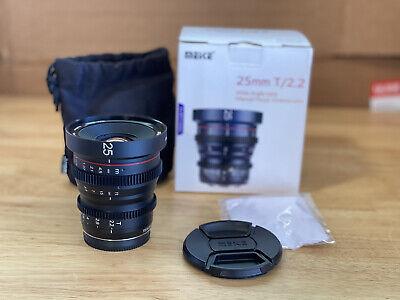 OPEN BOX - Meike 25mm T2.2 Mini Prime Cinema Lens Micro4/3 MFT - USA WARRANTY