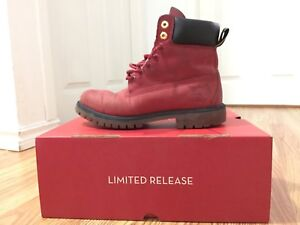 """Timberland Limited Release 6"""" Premium Red Rare"""
