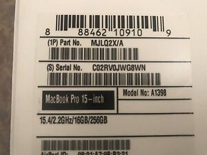 """MacBook Pro 15"""" 2015  with warranty Dingley Village Kingston Area Preview"""